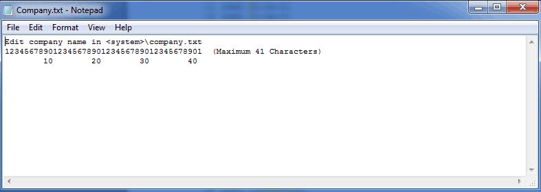 default company.txt file
